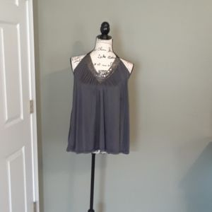 Grey and silver halter top